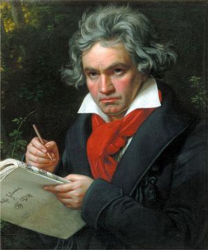 Ludwig van Beethoven - Schilderij van Joseph Karl Stieler
