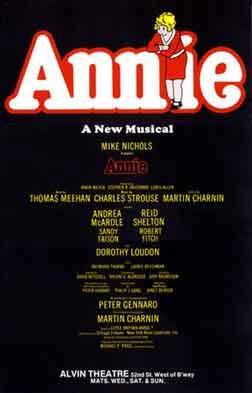 Bekende Musicals Annie Musical uit 1977