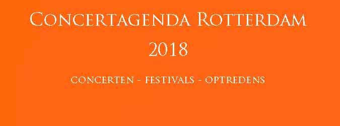 Concertagenda Rotterdam 2018 Concerten Festivals