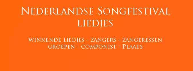 Nederlandse Songfestival Liedjes