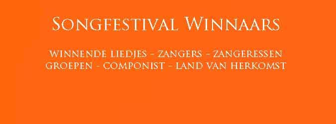 Songfestival Winnaars Winnende Songfestival Liedjes