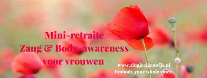 Workshop Zingen Retraite Zang en Body Awareness