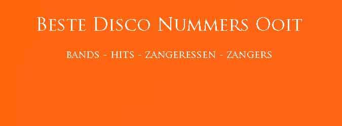 Beste Disco Nummers Overzicht Grootste Disco Hits