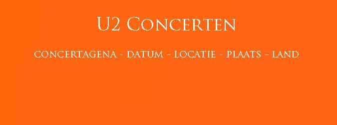 U2 Concerten Concertagenda U2 2018 2019 Overzicht Data